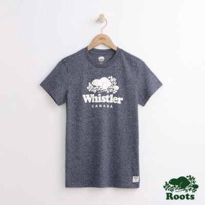 女裝Roots-惠斯勒城市短袖T恤-藍