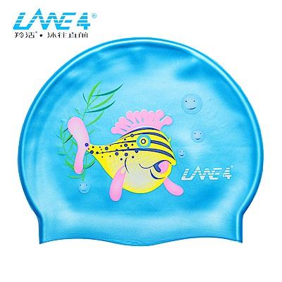羚活 兒童矽膠泳帽 河豚 LANE 4  SILICONE CAP