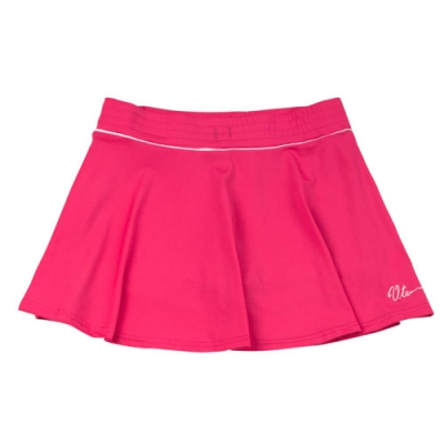 【V.TEAM】女款韻律短褲裙-桃紅