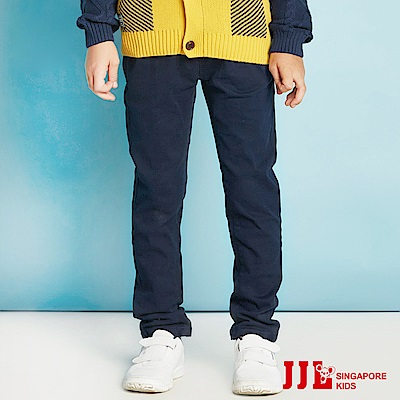 JJLKIDS 小紳士立體車線純棉褲(黑色)