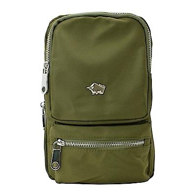 DRAKA 達卡 - 防潑水方形單肩斜背胸包-綠
