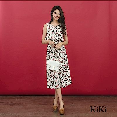 【KiKi】夏日度假風小碎花-洋裝(共二色)