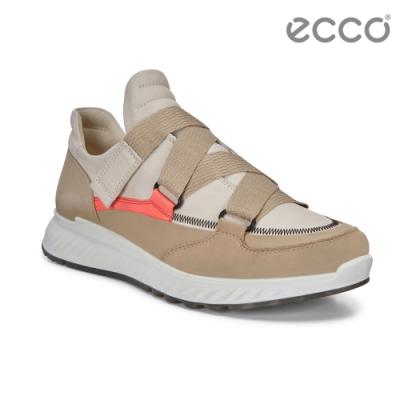 ECCO ST.1 W 舒適動能街頭風運動休閒鞋 女-裸/橘紅色