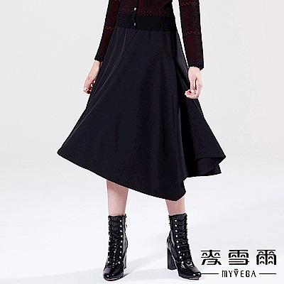 【麥雪爾】知性素面垂墜半身裙