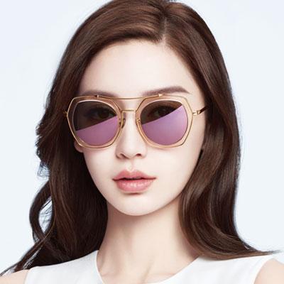 MOLSION太陽眼鏡 Angelababy代言/淺粉-金#MS6039 B30