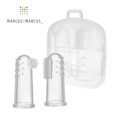 加拿大 Marcus & Marcus 指套乳牙刷2入組(含蓋)