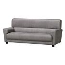 綠活居 皮瑟時尚灰耐磨皮革獨立筒三人座沙發椅-200x88x92cm免組