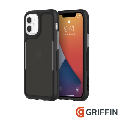 Griffin Survivor Endurance iPhone 12 mini 軍規抗菌防摔殼-黑
