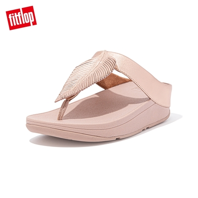 FitFlop FINO FEATHER TOE-POST SANDALS 羽毛裝飾夾腳涼鞋-女(玫瑰金)