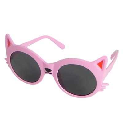 【Docomo孩童KID專用太陽眼鏡】貓咪造型鏡框  抗UV防紫外線 最受女童喜愛的造型 CNS檢驗合格認證