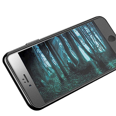 iPhone 6/6S 軟邊 碳纖維 霧面 9H 鋼化玻璃膜 保護貼