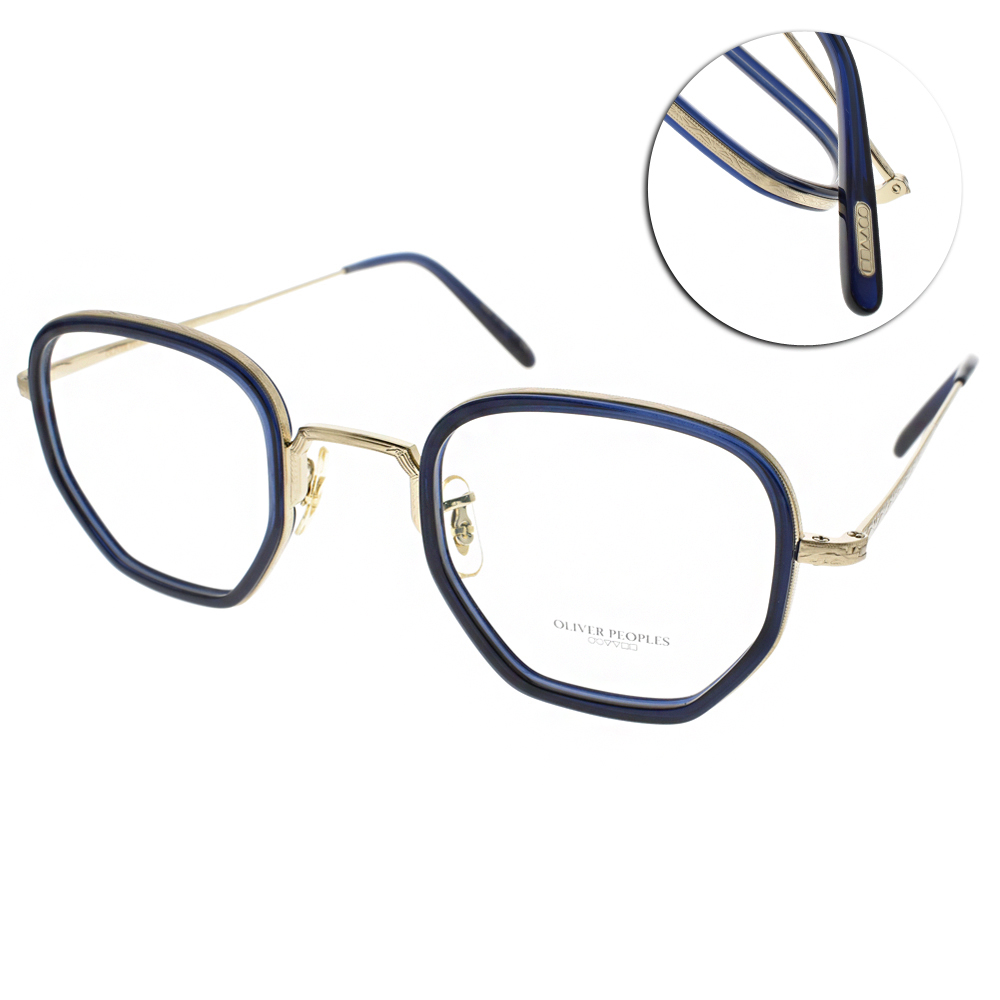 OLIVER PEOPLES眼鏡 完美工藝經典/藍-金#40 30TH 5236