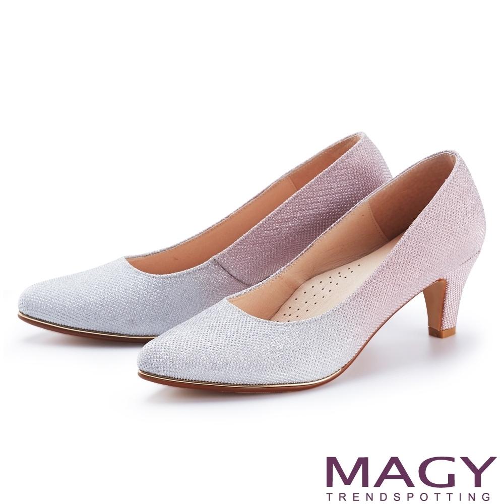 [今日限定] MAGY 精選跟鞋均價1180 (B.漸層閃爍光澤鑲金花嫁高跟鞋-銀粉)