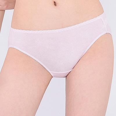 思薇爾 牛奶紗系列M-XL素面低腰三角內褲(柔粉色)