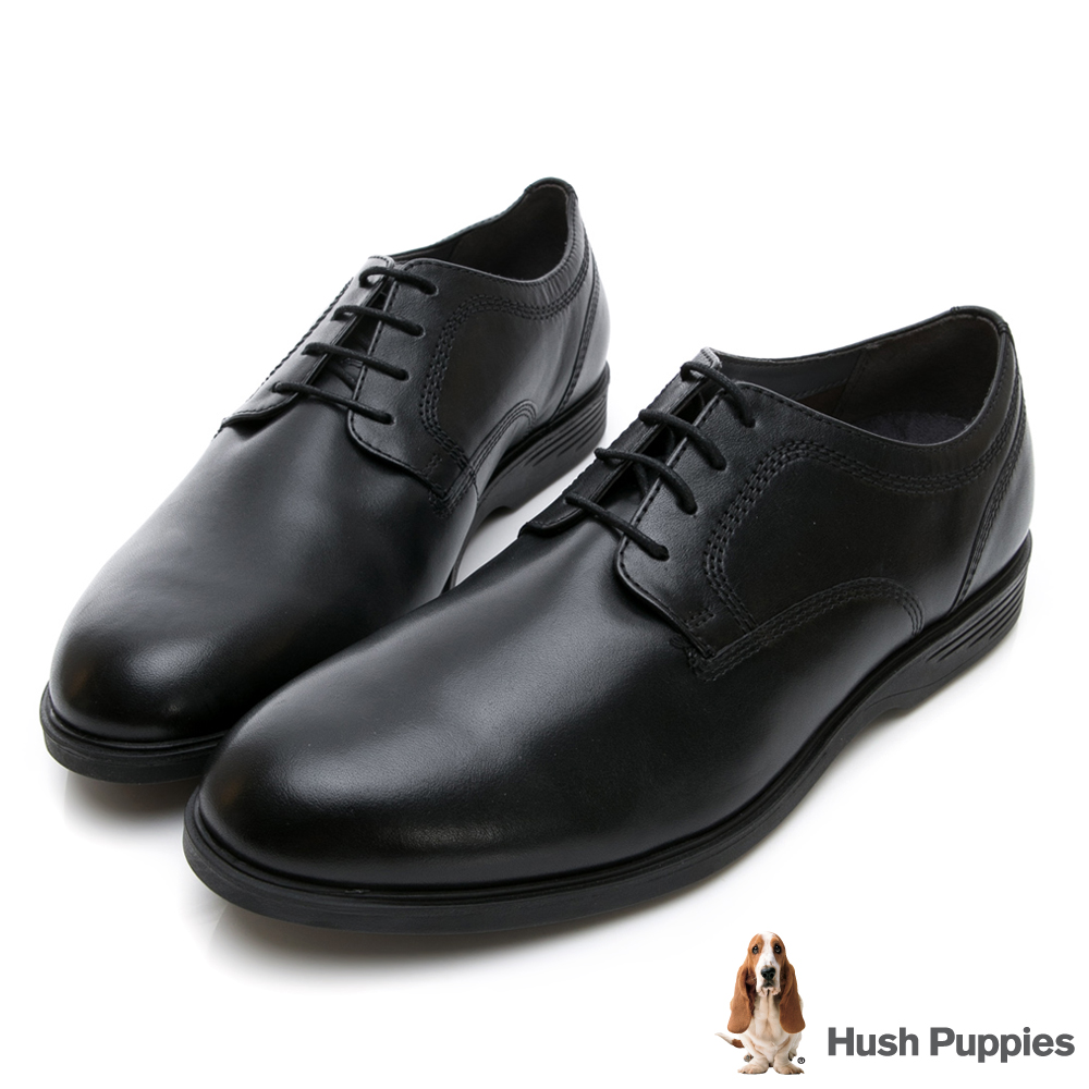 Hush Puppies SHEPSKY 正裝綁帶款皮鞋-黑