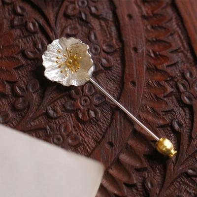 東方美學森系文藝立體花朵925純銀胸針-設計所在
