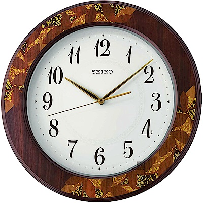 SEIKO精工 木質時尚滑動式秒針掛鐘(QXA 708 B)- 39 . 5 cm