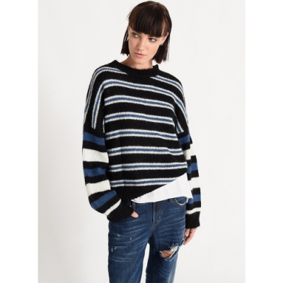 ONETEASPOON MOHAIR SWEATER 黑 條紋針織毛衣