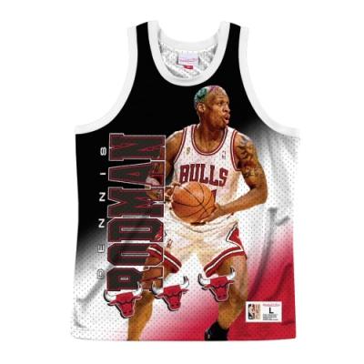 M&N NBA 球員印刷 復古球衣 公牛隊 Dennis Rodman