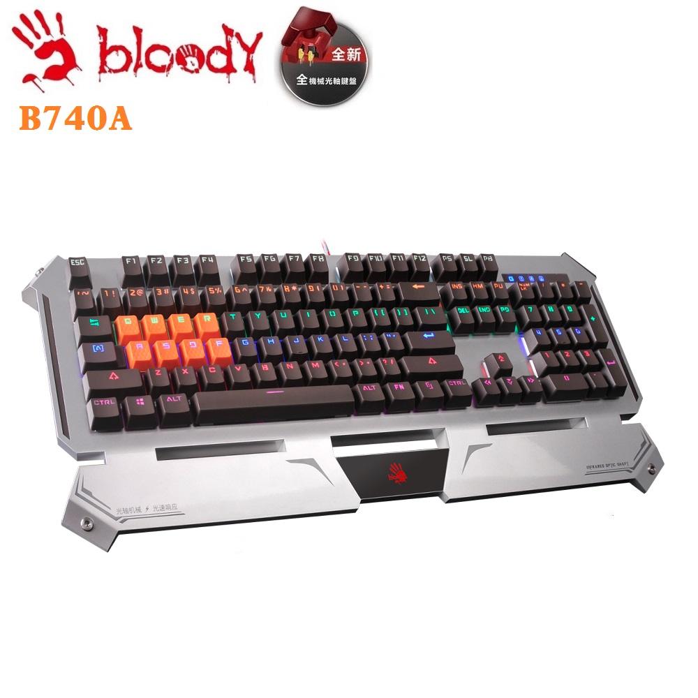 【A4 bloody】電競光軸機械鍵盤B740A