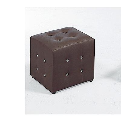 LOVE樂芙-小方椅/咖啡色-寬34深34高35公分
