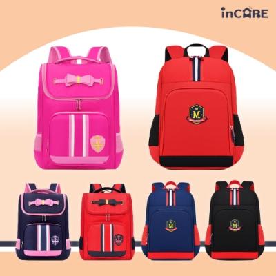 【Incare】男女款英倫學院風透氣減壓學生書包(六款任選)