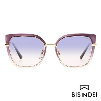 BIS IN DEI 不低調個性方框太陽眼鏡-深紫