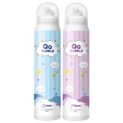 QQ Bubble 神奇好玩魔法沐浴泡泡慕斯~(超值2入)海洋泡泡藍+花香泡泡紫