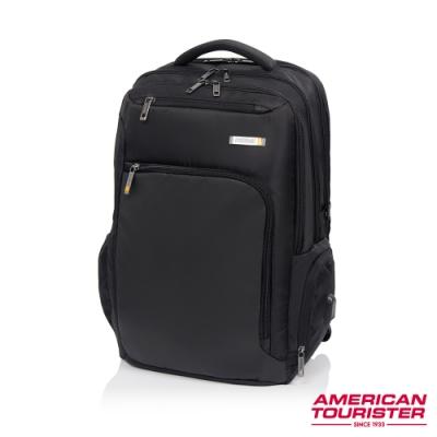 AT美國旅行者 Segno可鎖式筆電收納後背包17吋(黑)
