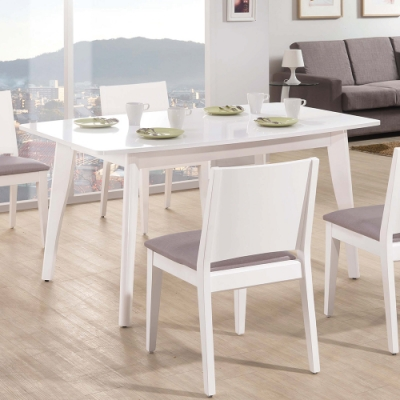 H&D 奧斯卡白色5尺餐桌