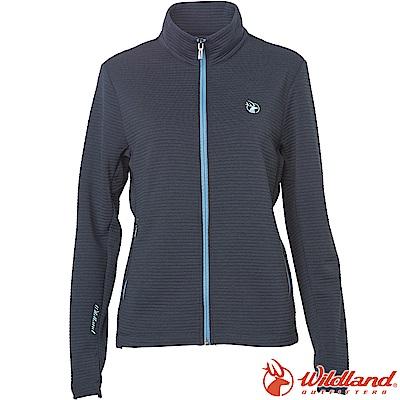 Wildland 荒野 0A62607-93深灰 女彈性針織時尚保暖外套