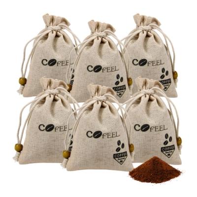 CoFeel 凱飛咖啡豆研磨香包100g/除臭包/除濕包(6包組)