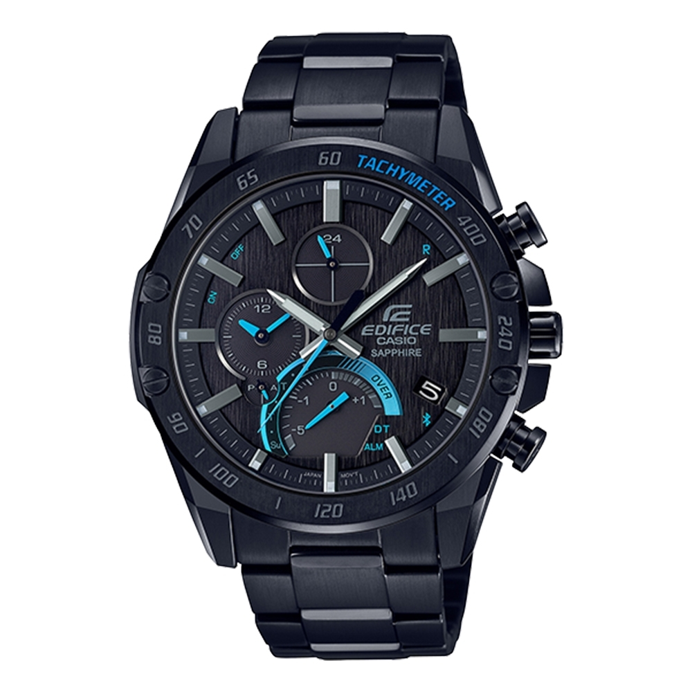 CASIO 卡西歐EDIFICE 輕薄藍牙太陽能手錶(EQB-1000XDC-1A)