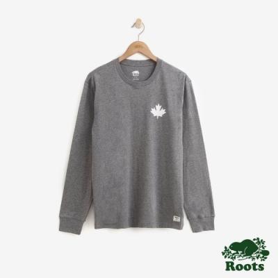 男裝Roots- 庫柏楓葉長袖T恤-灰