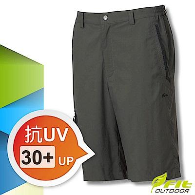 FIT 男新款 吸排抗UV平織短褲_森林綠 GS1901