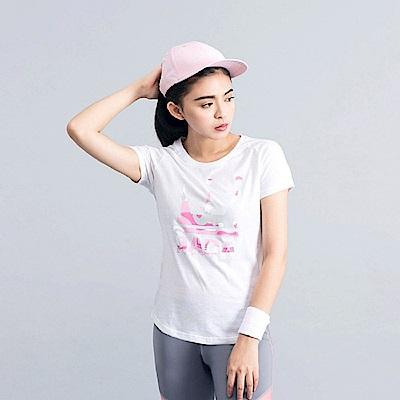 DADA SUPREME 粉紅迷彩LOGO T-shirt-女-白