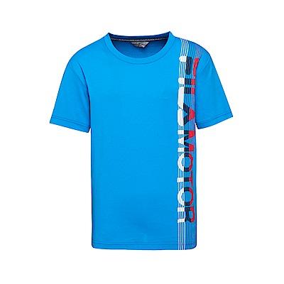 FILA 男款短袖圓領T恤-寶藍 1TET-1471-AB