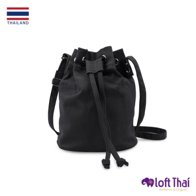 Loft THAI | 泰.兩用斜紋帆布水桶包 | Black