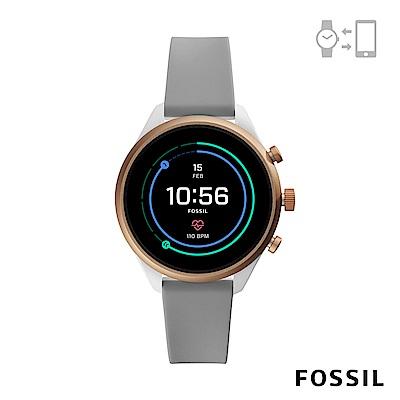 FOSSIL SPORT 運動智能錶-41MM 灰色矽膠
