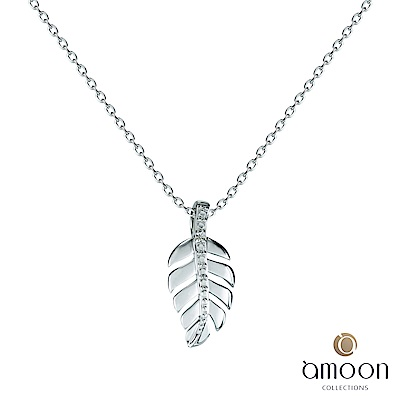 amoon 浪漫艾菲爾系列 金枝玉葉 9K金鑽石項鍊
