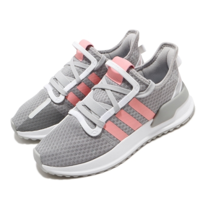 adidas 慢跑鞋 U Path Run J 襪套式 女鞋 愛迪達 運動休閒 球鞋穿搭 大童 灰 粉 EG9129