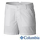 Columbia 哥倫比亞 女款-防曬30短褲-白色 UAL47201WT