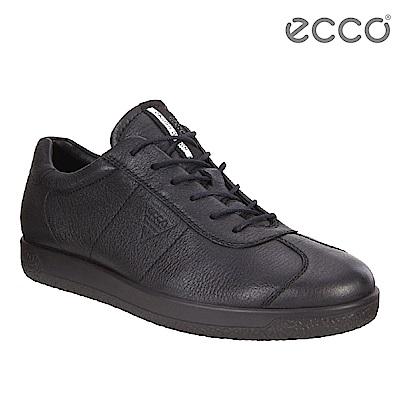 ECCO SOFT 1 MENS 極簡舒適潮流休閒鞋 男-黑