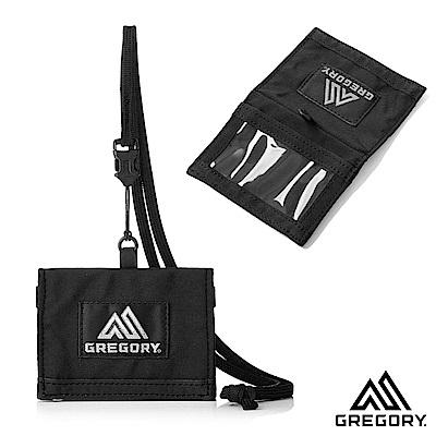 Gregory ID卡夾 證件套  附可拆式吊繩 黑