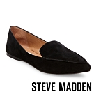 STEVE MADDEN-FEATHER 城市雅痞感真皮尖頭平底鞋-絨黑色