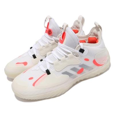 adidas 籃球鞋 Harden Vol 5 明星款 運動 男鞋 愛迪達 Futurenatural 避震 白 橘 GW5388