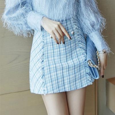 設計所在Lady-小香風短裙A字包臀(S-XL可選)
