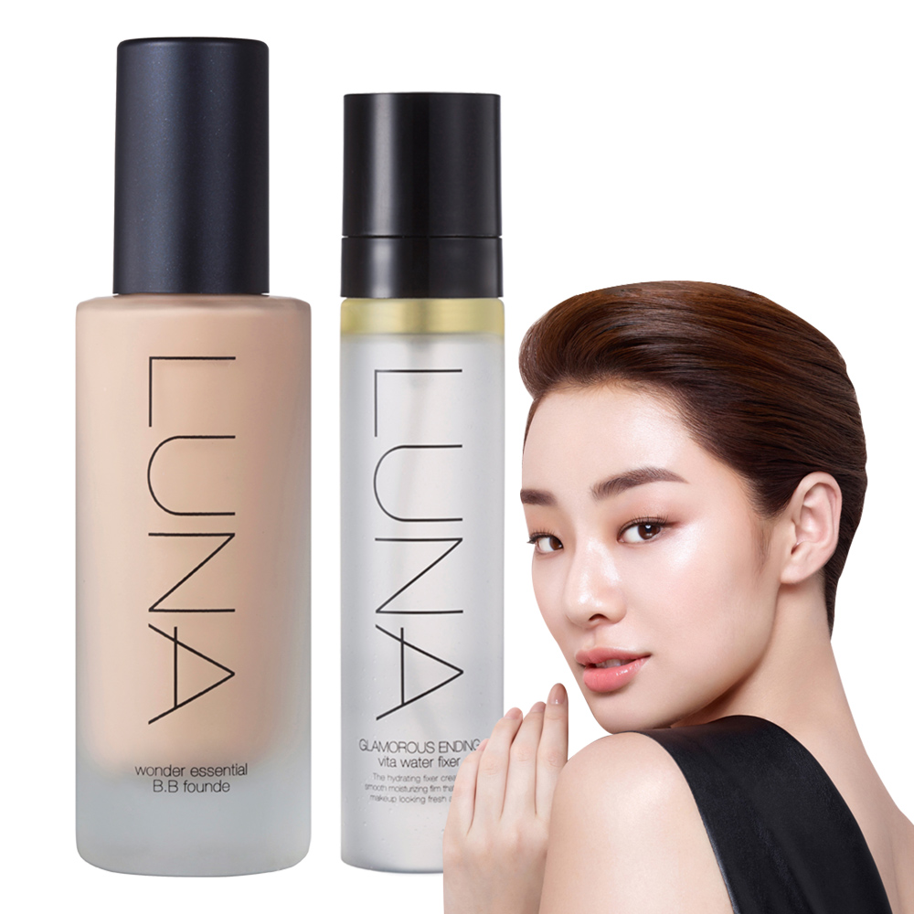韓國LUNA 完美遮瑕保濕粉底液#21白皙40ml(送定妝噴霧50ml)