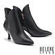 短靴 HELENE SPARK 摩登時髦蛇紋拼接高跟短靴-黑 product thumbnail 1