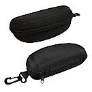 太陽眼鏡盒 墨鏡盒 簡約款眼鏡保護收納盒 硬殼收納包(附掛勾)